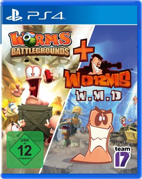 Worms Battlegrounds + Worms W.M.D. All-Stars