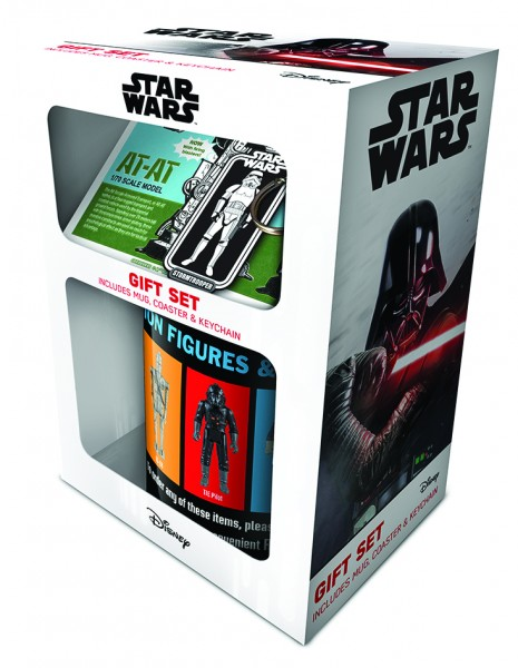 Geschenkbox Star Wars (Tasse+Schlüsselanhänger+Untersetzer)