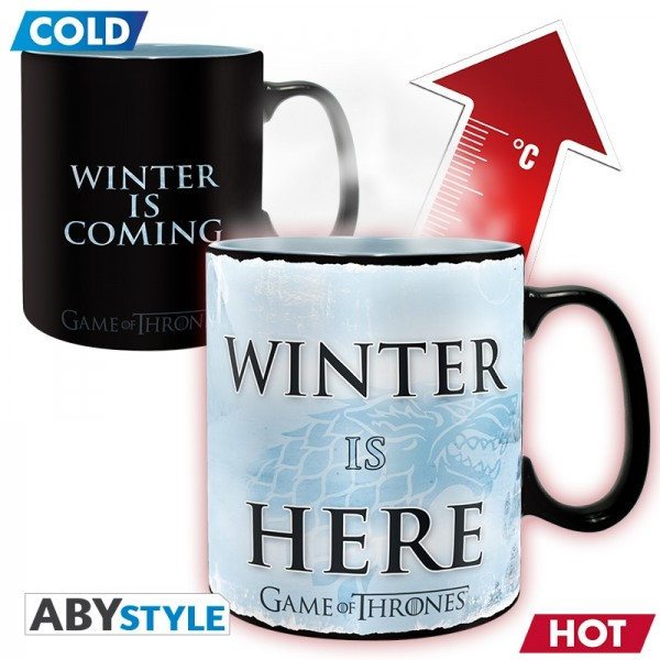 Tasse Game Of Thrones Winter Is Here, 460 ml (Farbwechsel)
