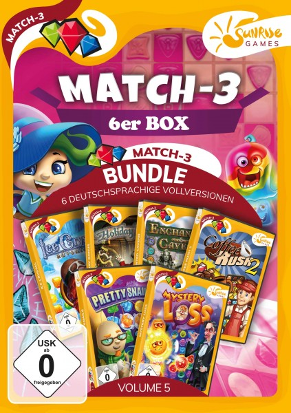 Sunrise Games - MATCH 3 6ER BOX 5