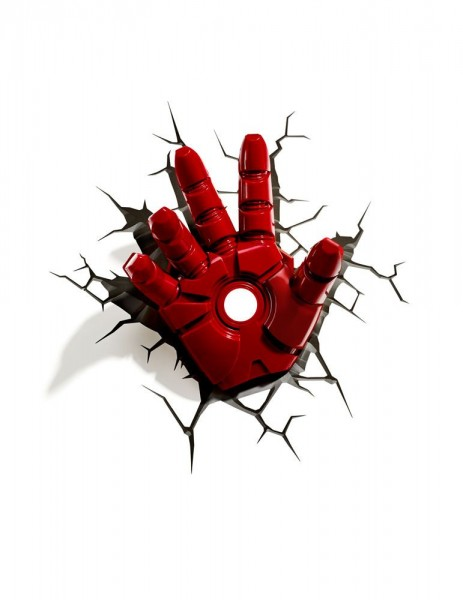 Lampe Marvel Iron Man Hand 3D