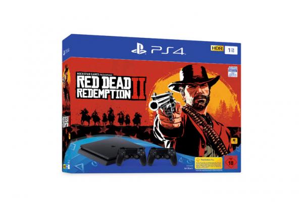 PS4 1TB (schwarz) inkl. Red Dead Redemption 2 (Verpackungsschaden)