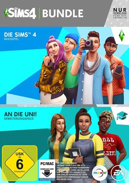 Die Sims 4 + An die Uni Add-On (Bundle) (Code in a box)