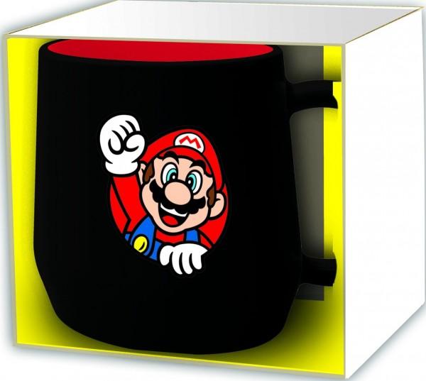 Tasse Super Mario schwarz