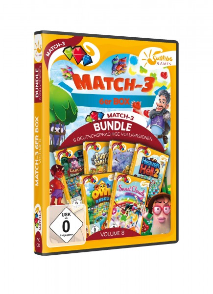 Sunrise Games: Match 3 6er Box 8