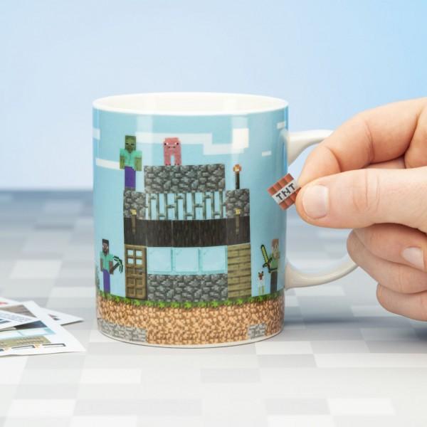 Paladone Products Minecraft Mug Build a Level Kelche Tassen (inkl. Sticker)