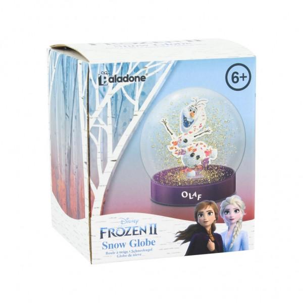 Disney Frozen II Schneekugel Olaf pink/transparent, aus Kunststoff, in Geschenkkarton.