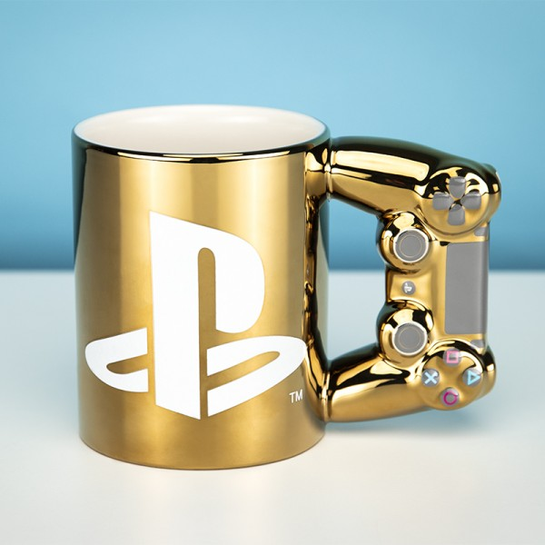Playstation Dual Shock4 Controller Becher (Gold)