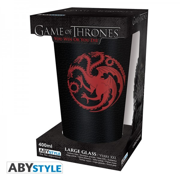 Game Of Thrones - XXL Glas - 500 ml - Targaryen