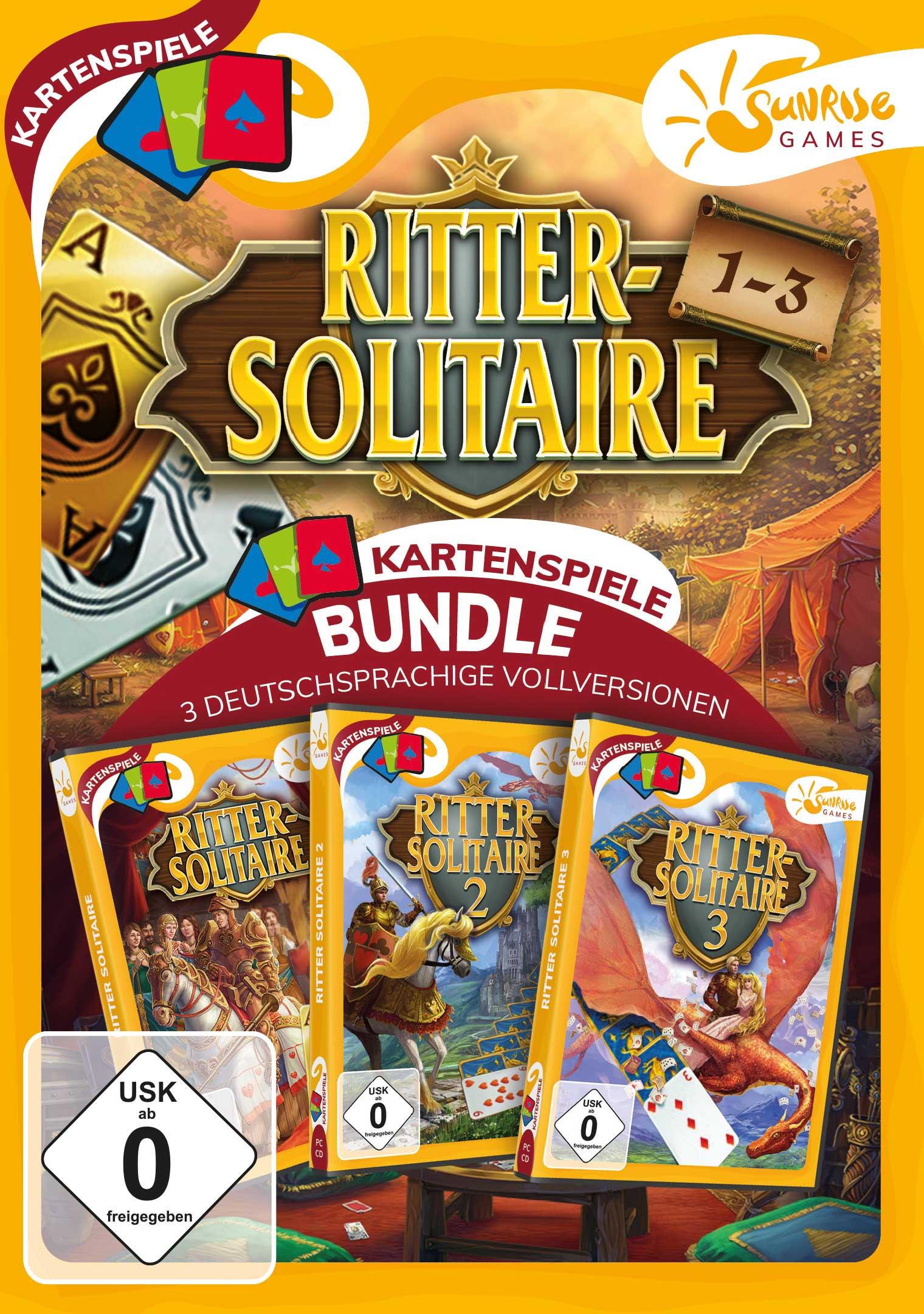sunrise games  ritter solitaire 13  cdrom  software