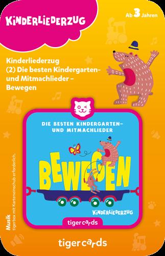 tigercard - Kinderliederzug (2): Die besten Kindergarten- und Mitmachlieder - BEWEGEN