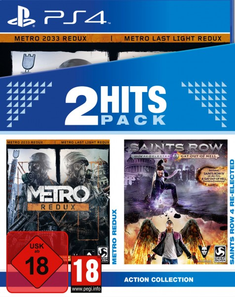 2 Hits Pack - Metro Redux + Saints Row 4: Re-Elected & Gat ot of Hell