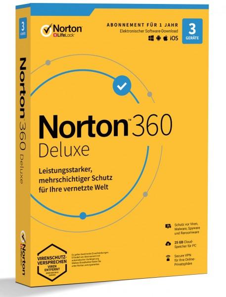 Norton 360 Deluxe - Generic (3 Geräte | 1 Jahr) (Code-in-a-Box)