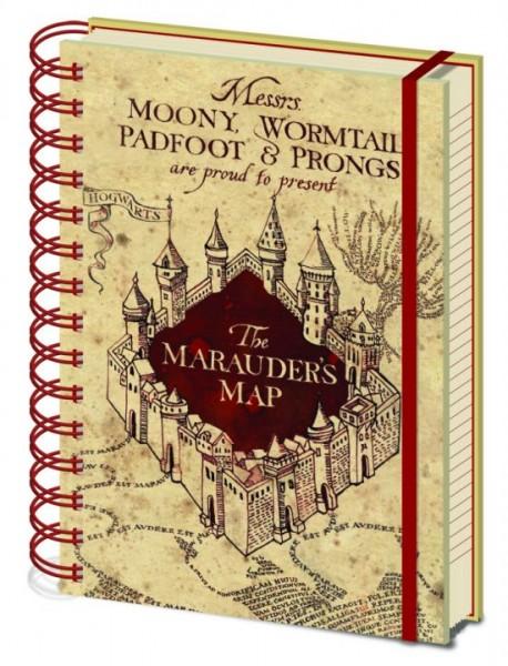 Notizbuch Harry Potter - Marauders Map