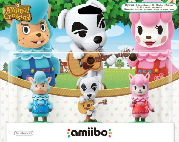 amiibo Figur Animal Crossing 3er-Set (Rosina, Björn, K.K.)