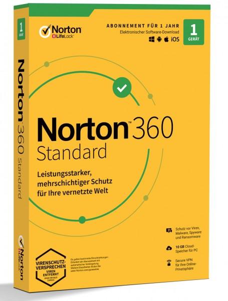Norton 360 Standard (1 Gerät | 1 Jahr) (Code-in-a-Box)