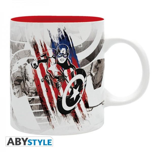 Tasse Marvel Captain America Design
