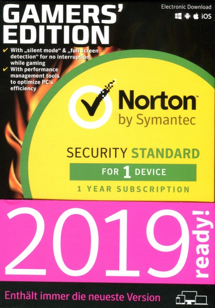 SYM Norton Security Standard Gamer Edition 1 Gerät (Code in a Box)