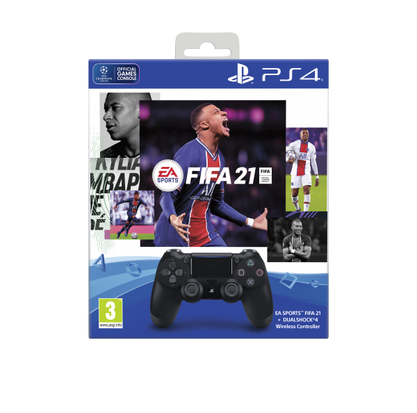 PS4 Controller (black) inkl. FIFA 21