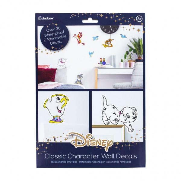 Disney Classic Character Wandaufkleber, 23 abnehmbare und wasserdichte Aufkleber