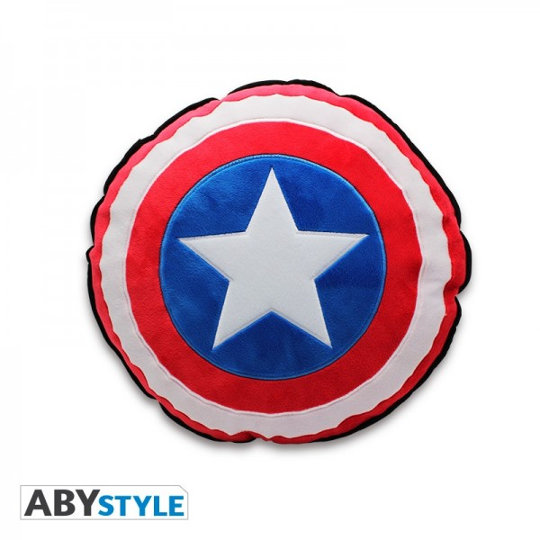 Marvel Kissen Captain America Shield, Schwarz, 2