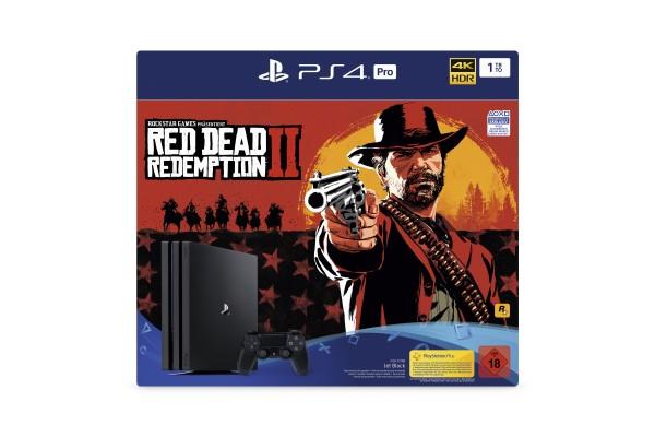PS4 PRO 1TB (schwarz) inkl. Red Dead Redemption 2 (Verpackungsschaden)