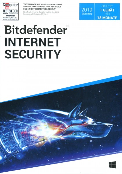 Bitdefender Internet Security Edition 2019 - 1 Gerät / 18 Monate