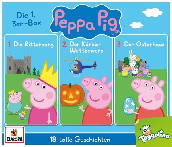 Peppa Pig Hörspiele - 01/3er Box (Folgen 1,2,3)