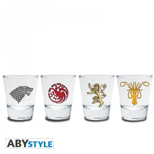 Glas Schnaps Emblem 4er-Set