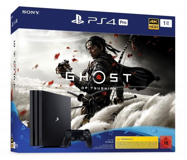PS4 PRO 1 TB (schwarz) inkl Ghost of Tsushima
