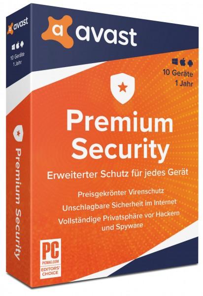AVAST Premium Security 2020 (10 Geräte I 1 Jahr) ( Windows I MAC I Android)