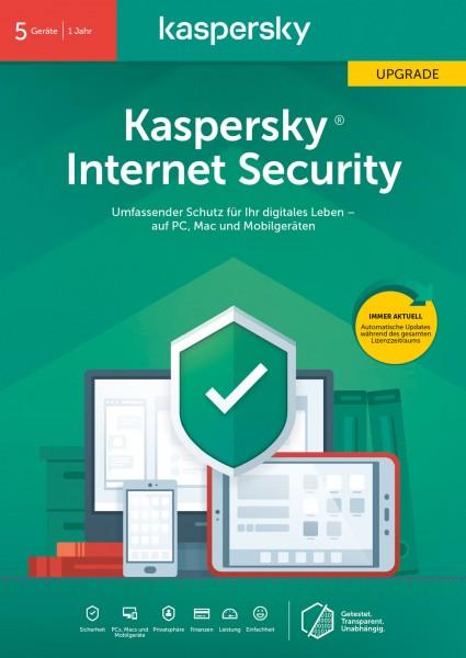 Kaspersky Internet Security Upgrade (5 Geräte I 1 Jahr) (Code in a Box) - CD-ROM-Eurobox