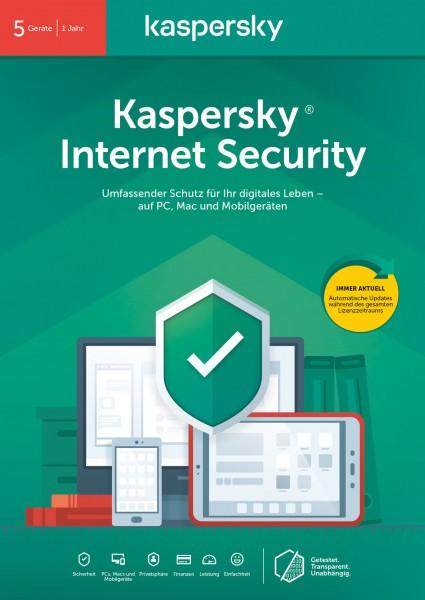 Kaspersky Internet Security (5 Geräte I 1 Jahr) (Code in a Box)