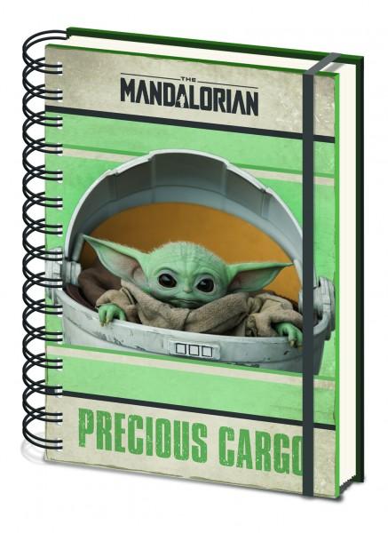 Notizbuch Mandalorian Baby Yoda Precious Cargo (Ringbuch)