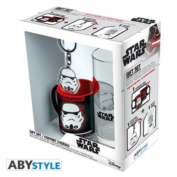Geschenkbox Star Wars (Glas + Tasse + Schlüsselanhänger)