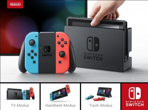 Nintendo Switch (Neon-Rot/Neon-Blau)