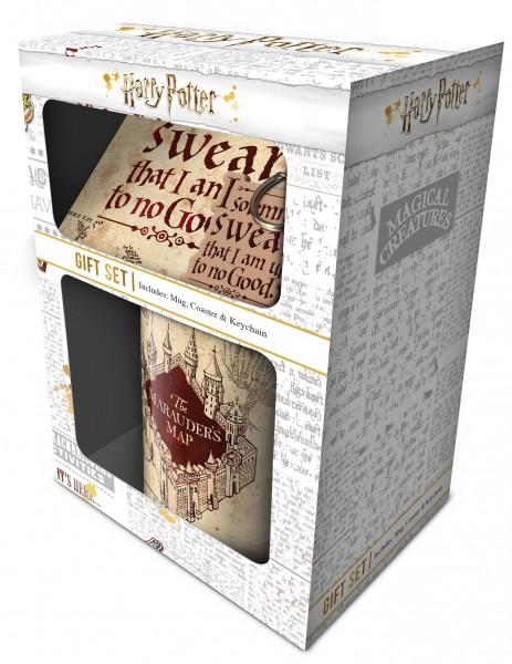 Geschenkbox Harry Potter - Marauders Map (Tasse, Schlüsselanhänger, Untersetzer)