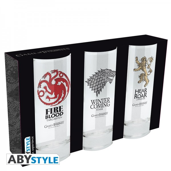 Glas Game of Thrones 3er-Set