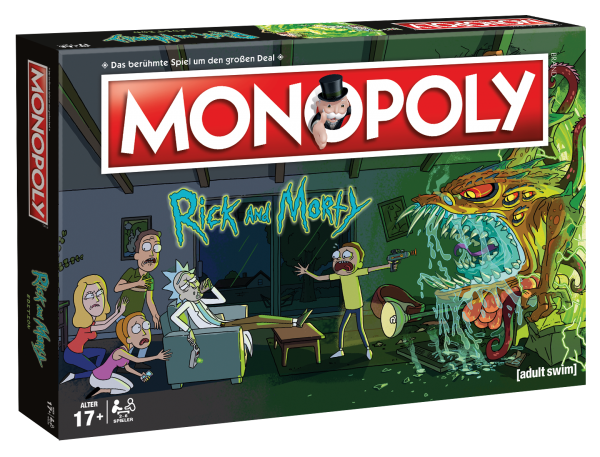 Winning Moves WIN45069 Monopoly-Rick and Morty Rick & Morty Brettspiele