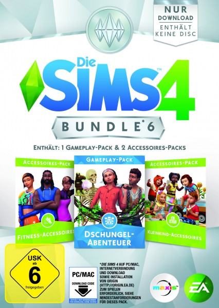 Die Sims 4 Bundle Pack 6 (Code in a box)