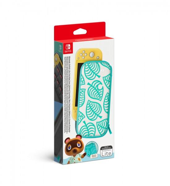 Nintendo Switch Lite - Tasche Animal Crossing: New Horizons-Edition + Schutzfolie