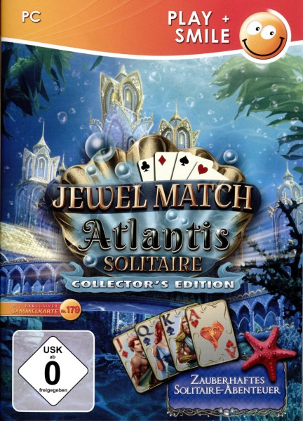 Play + Smile: Jewel Match - Atlantis Solitaire (Collector's Edition) - CD-ROM DVDBox