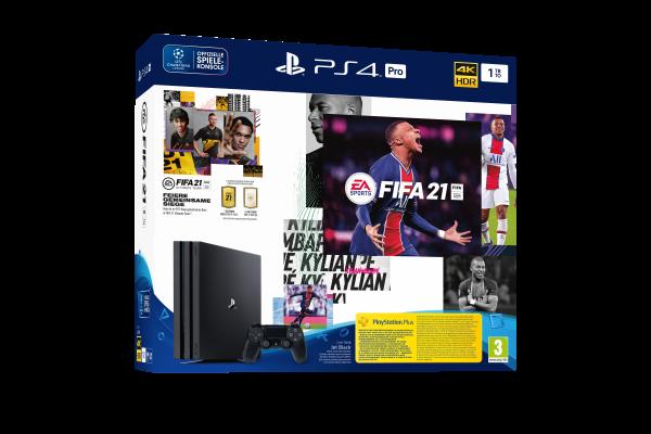 PS4 PRO 1TB (schwarz) inkl. FIFA 21