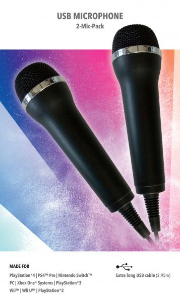 Mikrofone für Karaoke Games (2er Set)